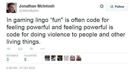 John macintosh fun tweet feminism gaming