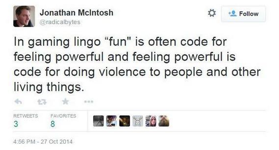 John macintosh fun tweet feminism gaming